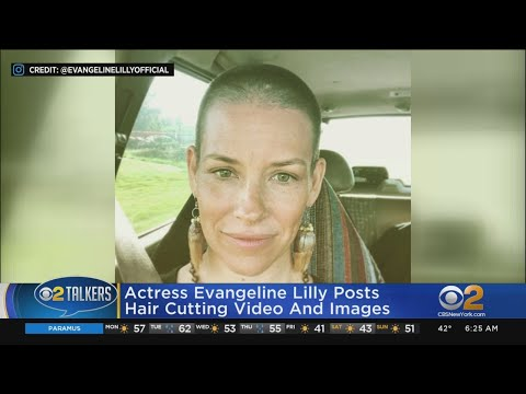 Evangeline Lilly Shaves Head