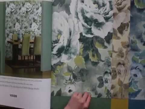 A54-5 Elegant Flower Non-Woven Wallpaper for Home Decoration