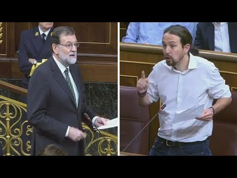 PABLO IGLESIAS zasca a RAJOY con GÜRTEL y CATALUÑA (18/10/2017)