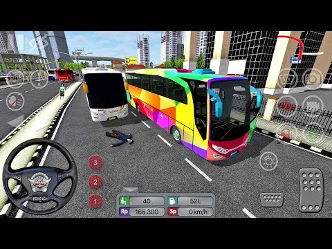 Bus Simulator Indonesia #18 CRAZY DRIVER! - Bus Game Android gameplay
