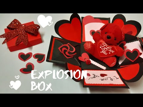Diy Valentine's Day Explosion Box 2020 How to make Simple Explosion Box  Explosion Box Tutorial