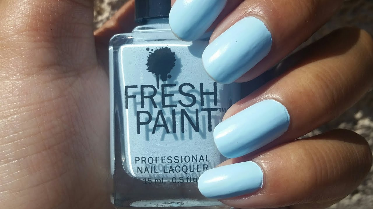 NOTD Fresh Paint Matte in the USA - YouTube