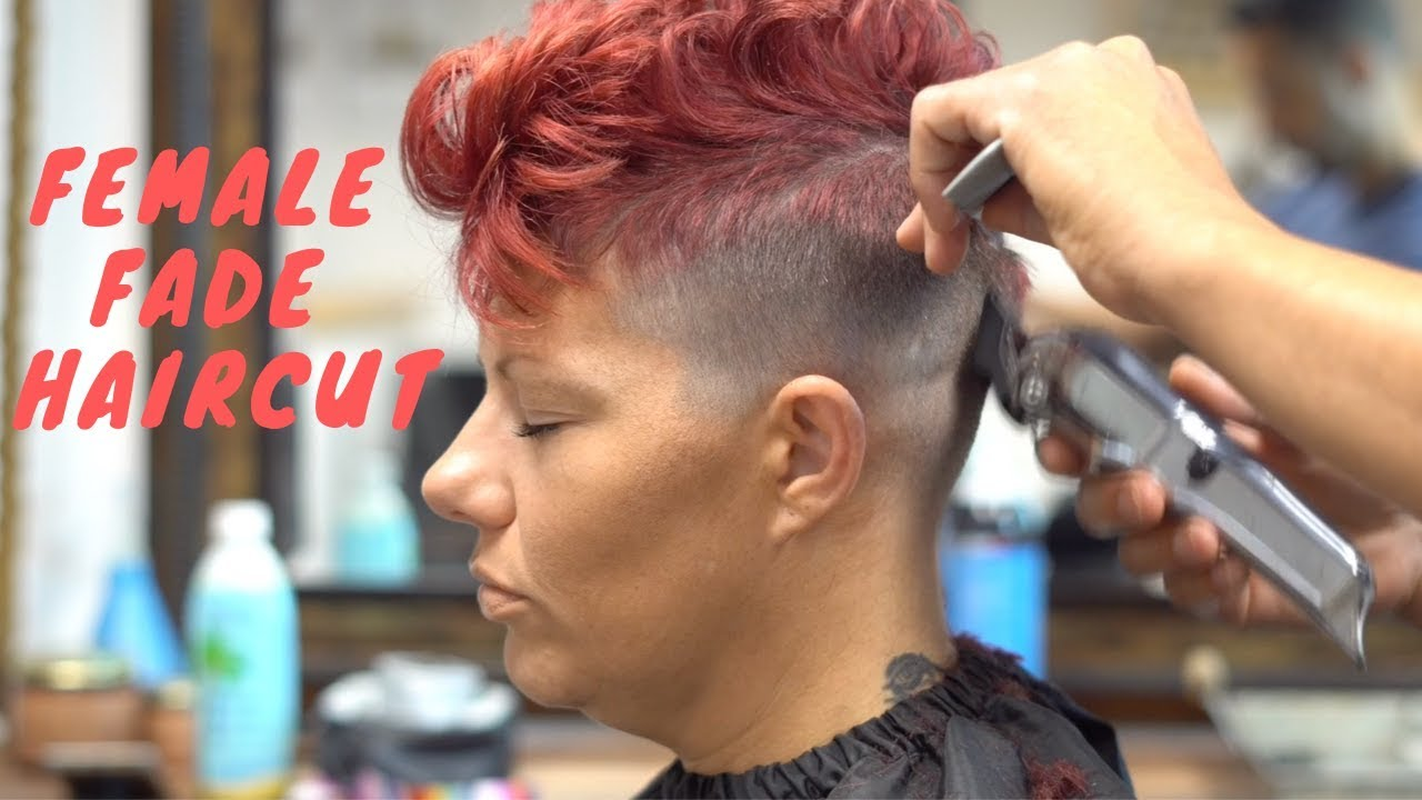 Women S Fade Haircut Female Short Haircut Pixie Haircut Women Youtube