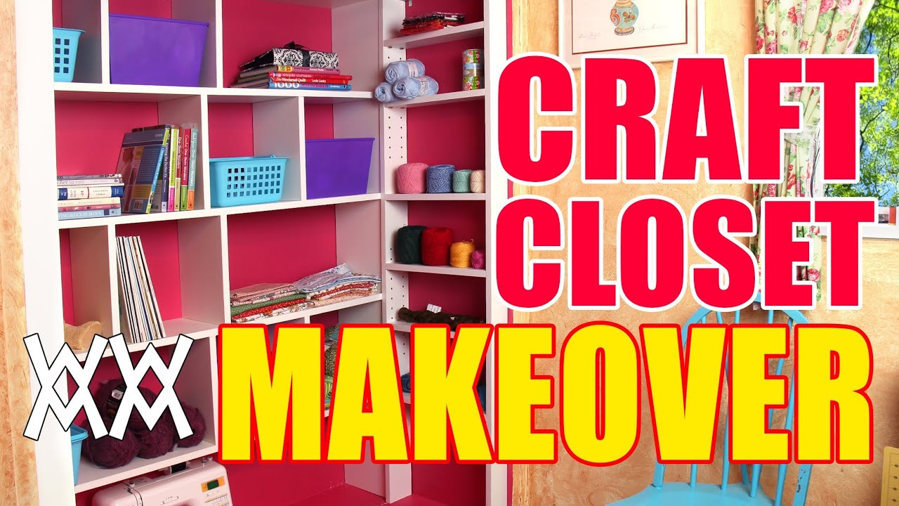 Diy craft closet organizer and shelving system youtube for New home construction organizer