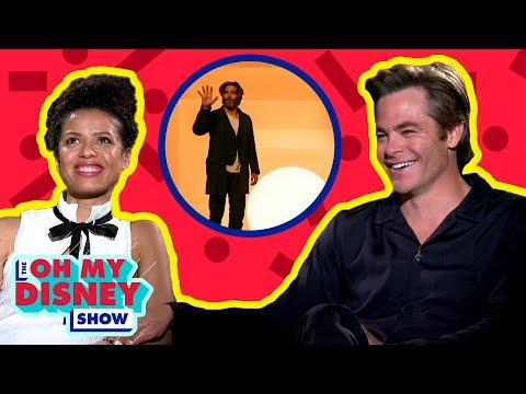 Chris Pine and Gugu MbathaRaw on Filming A Wrinkle in Time  Oh My Disney  by Oh My Disney