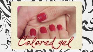 ☆★Gel nail tutorial - Colored gel★☆
