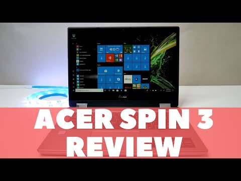 """Acer Spin 3 14"""" Convertible 2in1 Laptop Review, UNBOXING & TEARDOWN"""
