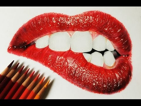 HOW I DRAW REALISTIC LIPS!! - YouTube