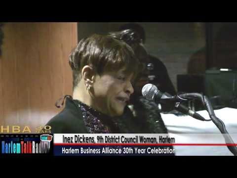 Inez Dickens Council Woman & Aziz Adetimirin TNJ, Harlem Business Alliance 30th Anniv 1of6