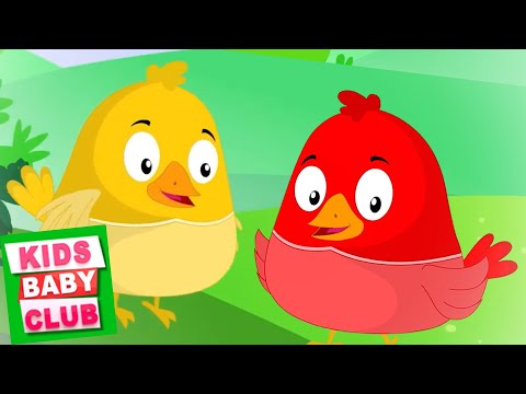two-little-dicky-birds-songs-for-kids-|-monkey-rhymes---kids-baby-club