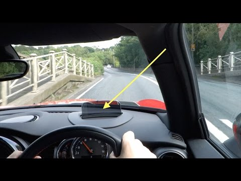 HUD - Demonstration of a Heads Up Display in a 2015 Mini Cooper