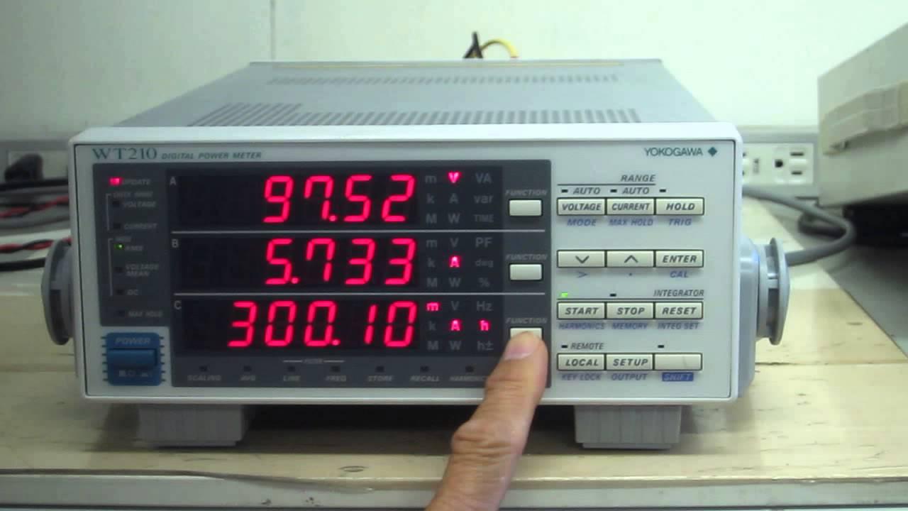 Yokogawa Wt210 Digital Power Meter  U52d5 U4f5c U78ba U8a8d