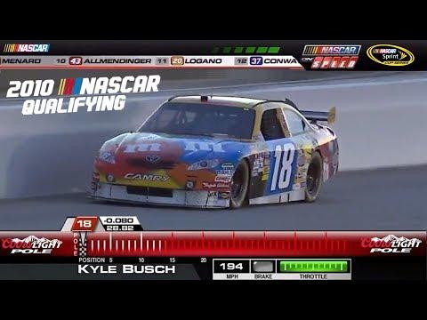 2010 NASCAR Qualifying Laps (Part 1)