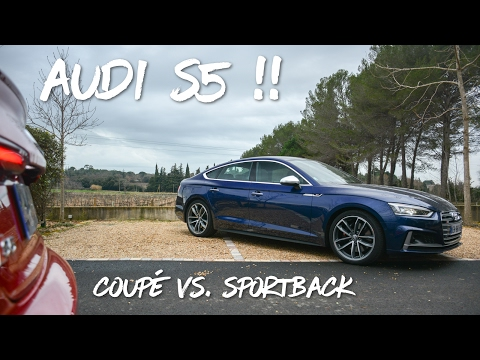 Audi S5 B9 2017 Coupe VS Sportback Driving onboard acceleration exhaust sound