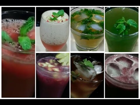 Best 7 ● Summer Drinks Recipes / Simple and Easy Summer Cooler Recipes/ How to Make Summer Drinks.