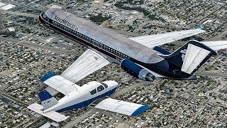 Fatal Collision over Los Angeles | DC-9 Collides with a Piper Just Before Landing in LAX