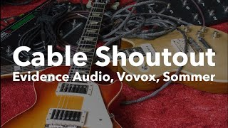 Hi-End Guitar Cable Shoutout (Evidence Audio vs Vovox vs Sommer)