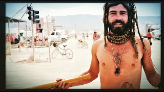 Cinder playing wifle ball naked at Burning Man #FREEDOM