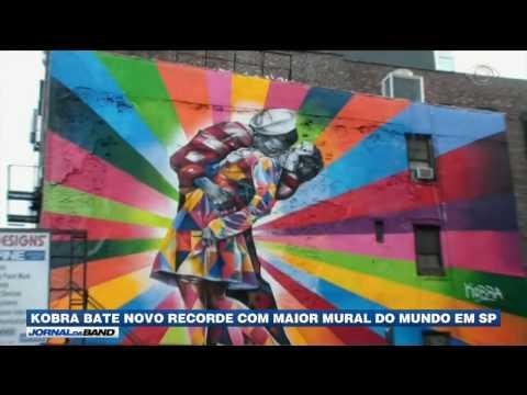 Kobra bate novo recorde com maior mural do mundo em SP