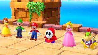 Super Mario Party - Luigi vs Boo vs Mario vs Bowser - Minigames