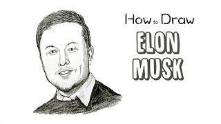How to Draw Elon Musk