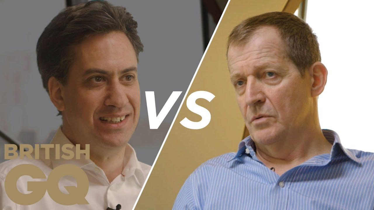 Alastair Campbell vs Ed Miliband on podcasts, Brexit and bacon sandwiches | British GQ