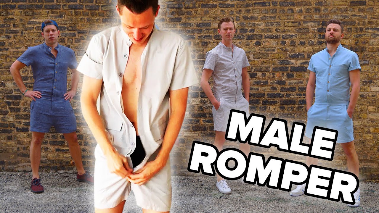 ee89bc8eea34 Men Wear Rompers For A Day - YouTube
