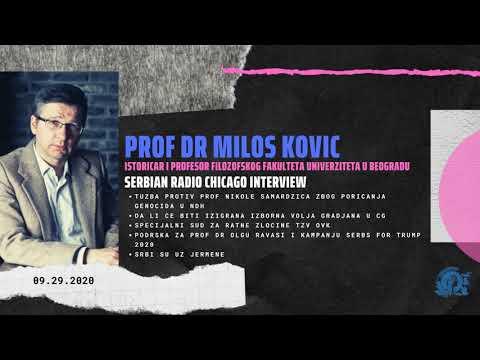 EXCLUSIVE! NEW! SERBIAN RADIO CHICAGO – PROF DR MILOS KOVIC 09.29.20