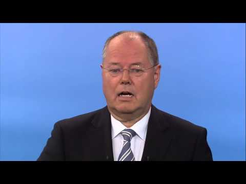 """Steinbrueck calls for """"second marshall plan"""" in Euro-crisis"""