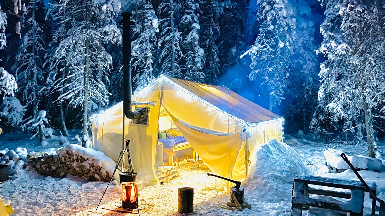 Download -29C WINTER CAMPING IN THE WARMEST HOT TENT ON EARTH
