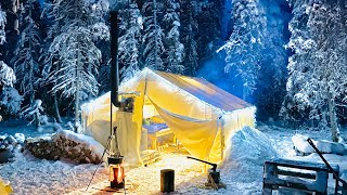 -29C WINTER CAMPING IΝ THE WARMEST HOT TENT ON EARTH