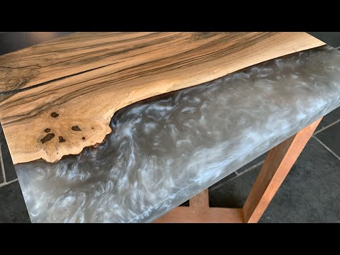 How to Finish an Epoxy Resin Slab p1 - #MWshopTalk