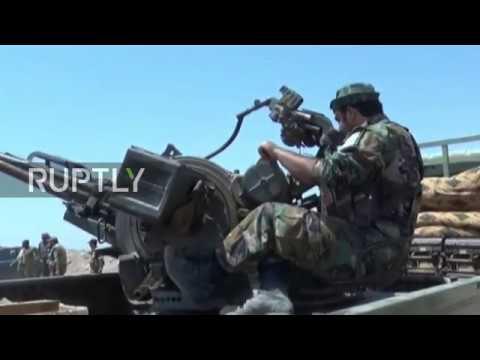 Syria: Govt. forces make gains on southwestern border with Jordan *EXCLUSIVE*