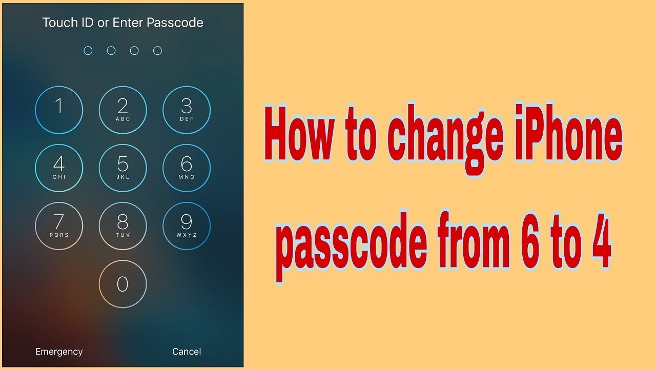 iOS 10 3 1 - How To Change iphone/ipad Passcode From 6 Digits to 4 Digits