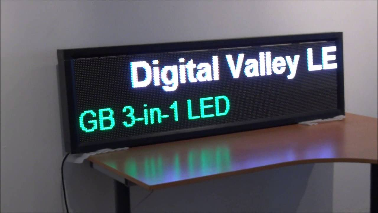 Digital Led Sign 61 Quot X18 Quot Full Color Led Banner P7mm Pitch