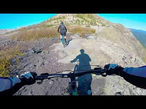 Mount St Helens Ape Canyon to Plains of Abraham MTB trail