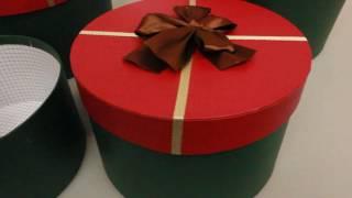видео большие подарочные коробки