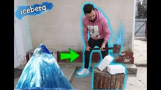 CIOCAN vs ICEBERG! (s-a rupt ciocanul...) EXPERIMENT