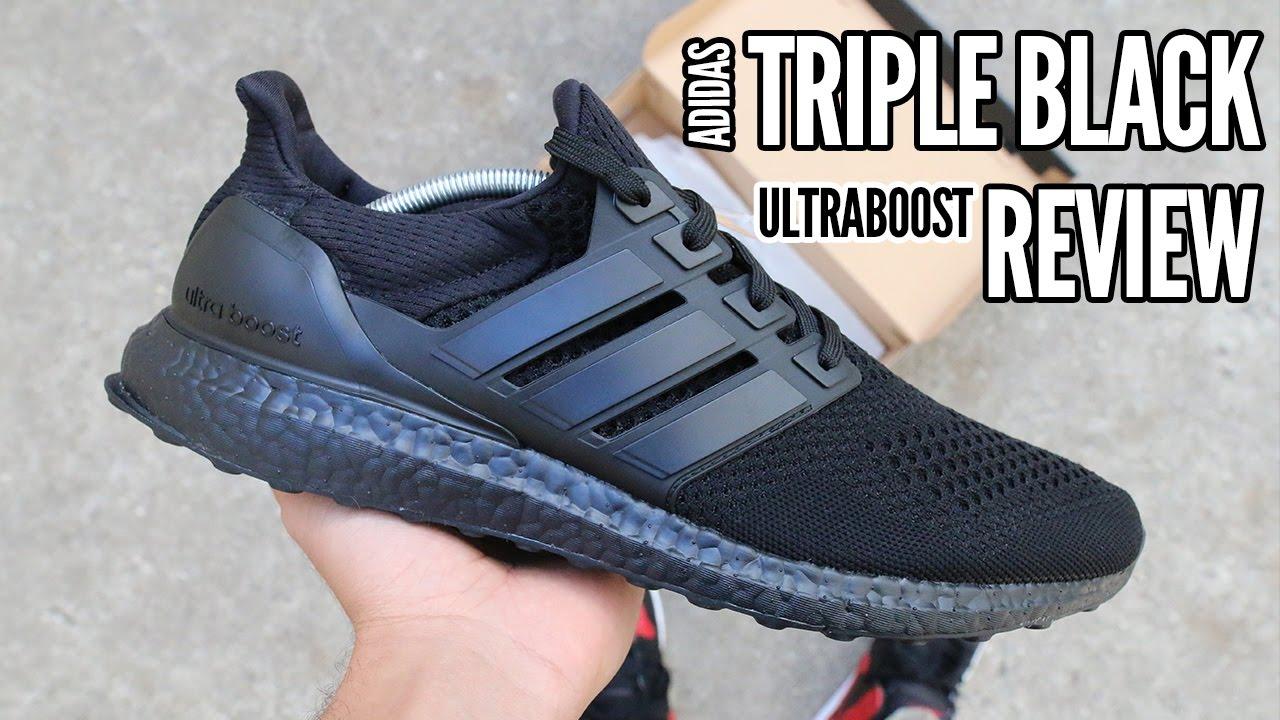 4873f726627bd Adidas UltraBoost Triple Black Early Look (UNRELEASED) - YouTube