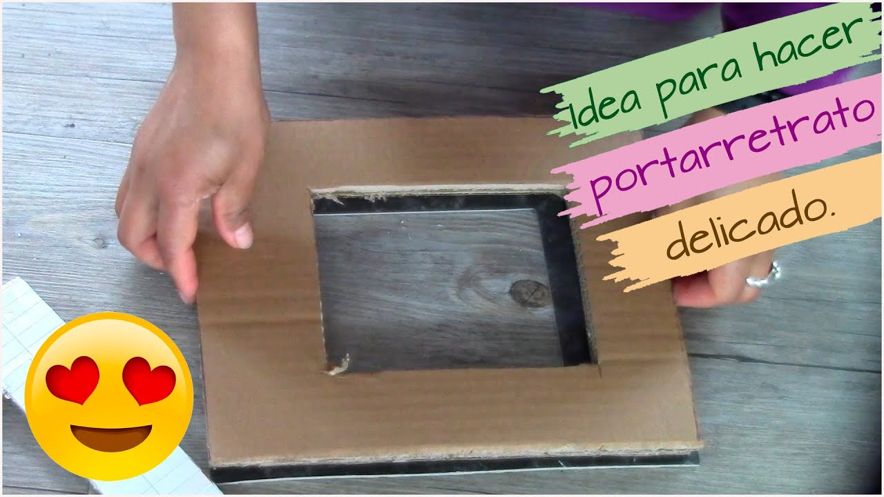 ¡!Increíble idea con cartón ¡✅Portarretrato de cartón y papel mache, idea para vender