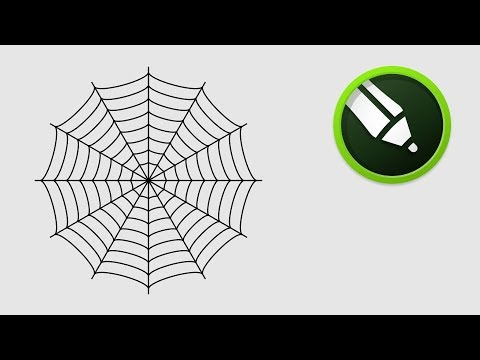 Spider Web Design in Coreldraw
