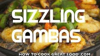 Sizzling Gambas Pinoy Shrimp Prawn Recipe - Tagalog Filipino