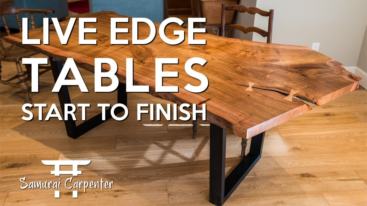 building live edge tables start to finish youtube