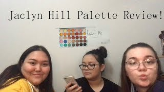Review Jaclyn Hill's Palette + Swatches!! Ft. My Li'l Sis