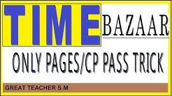 TIME BAZAR PANNEL /CP PASS COMPUTER TRICK IN SATTA MATKA