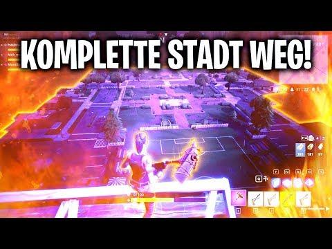KOMPLETTE STADT IST WEG! 🏠   Fortnite: Battle Royale