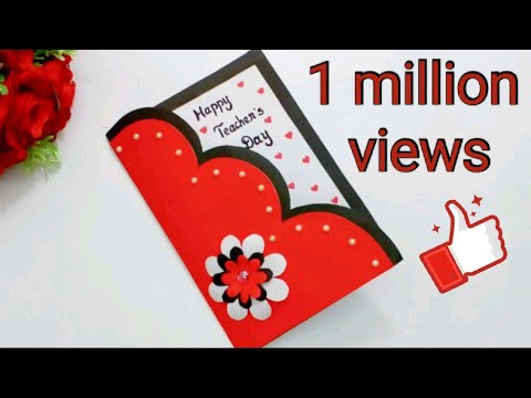teachers-day-special-greeting-card|-how-to-make-card-for-teachers-day|-school-craft|-queen's-home