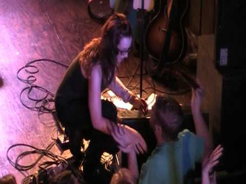 Ingrid Michaelson sings with audience member