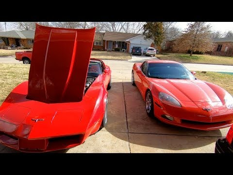 1980 Corvette new Intake + Carb First Run and Drive