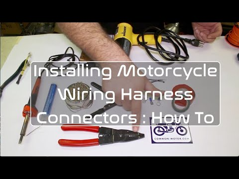How to Install Motorcycle Wiring Harness Electrical Connectors